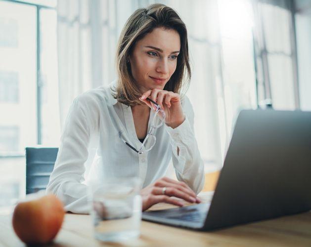 woman computer smart