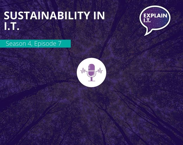 Sustainability in IT podcast banner