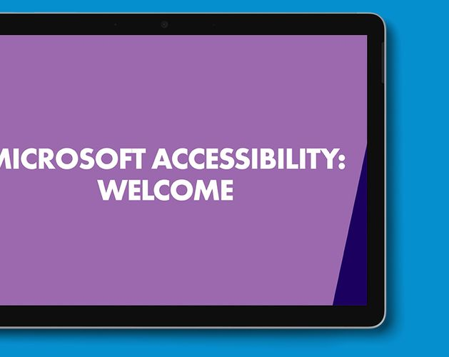 Microsoft Accessibility Thumbnail   Welcome