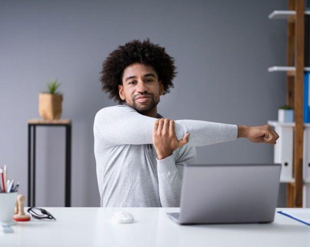 stretching laptop