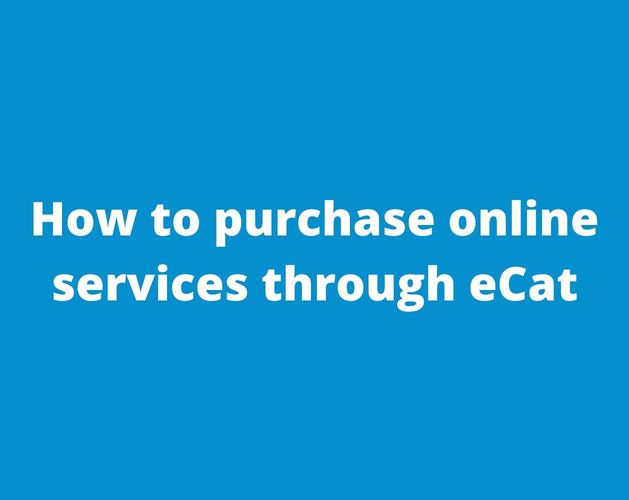 How to purchase online services through eCat